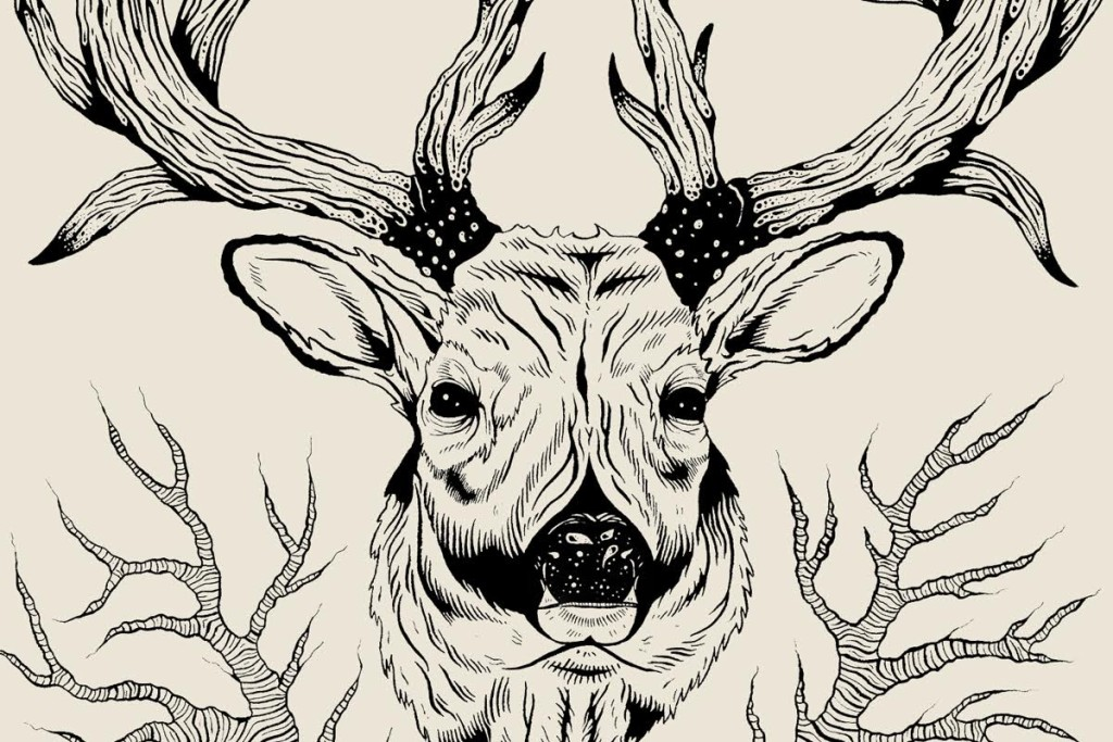 Logan Schmitt deer head illustration