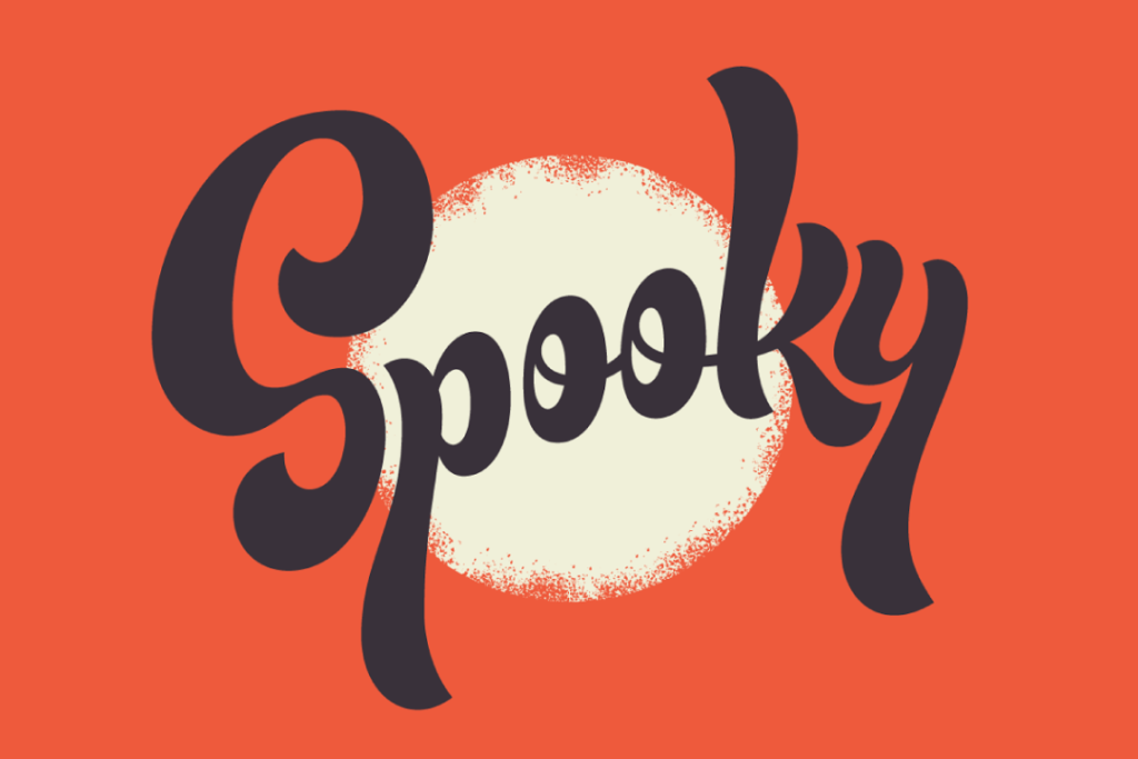 spooky typography - jonathan bell