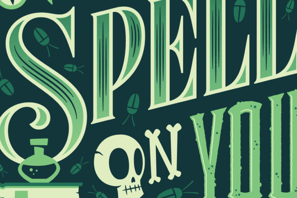 Spell on you Typography - Jonathan Bell
