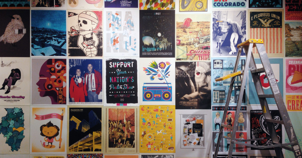 wall of posters the NPR