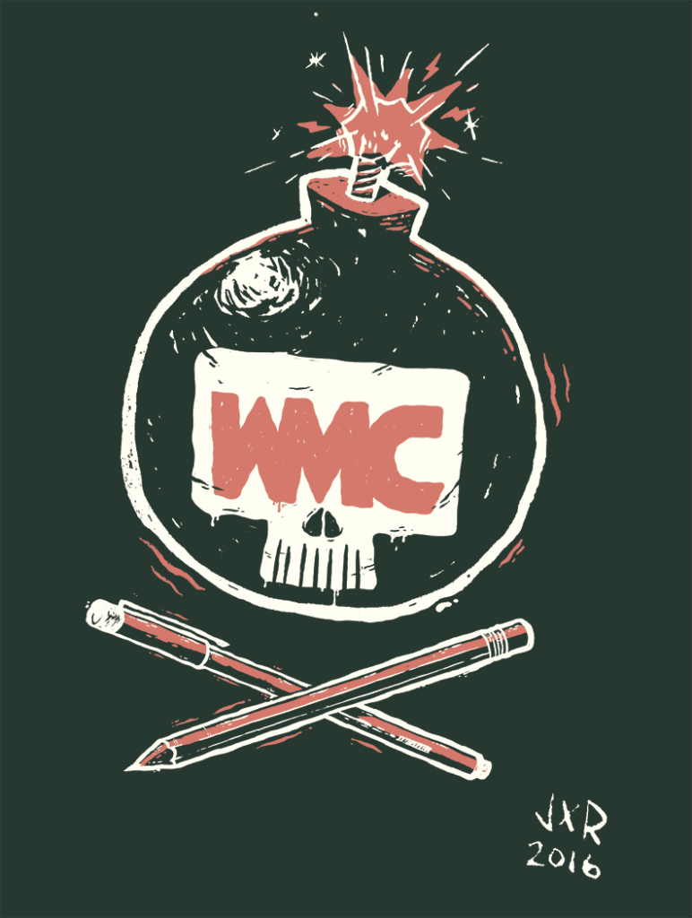 weapons of mass creation blake stevenson tshirt design