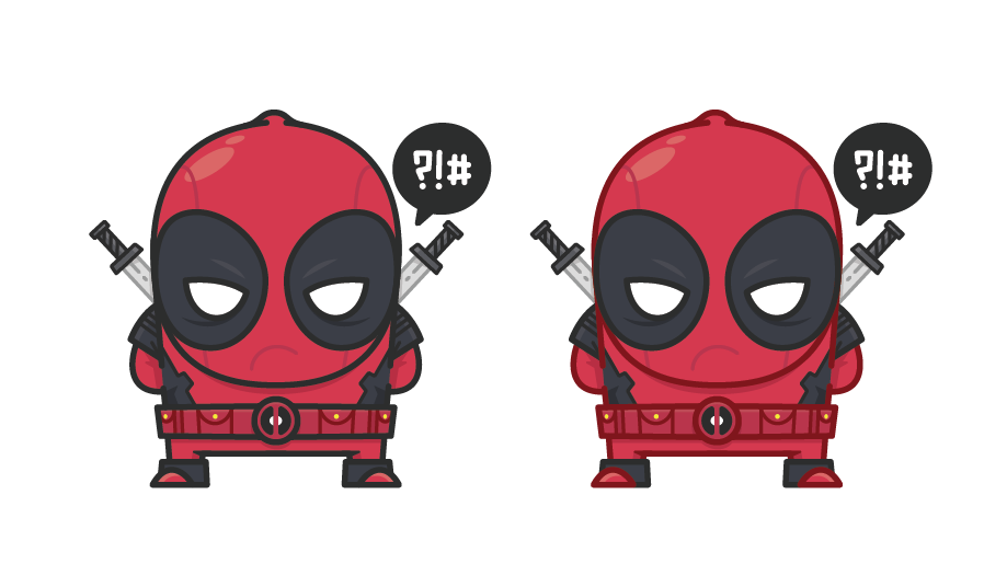 deadpool vector illustration by blake stevenson aka jetoacks and rollerskates.