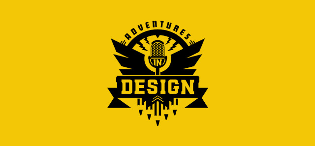 Best design podcast Adventures in design logo